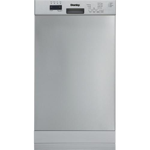 """Danby - Danby 18"""" Electronic Dish Washer Stainless Steel"""