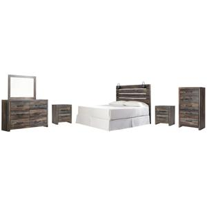 Ashley - King Panel Headboard With Mirrored Dresser, Chest and 2 Nightstands