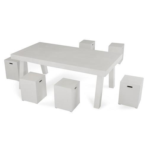 Modrest Yem Ivory Concrete Dining Stool