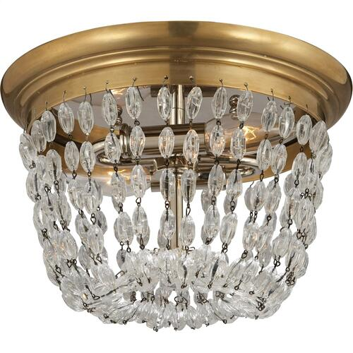 Visual Comfort CHC4206AB-SG E F Chapman Paris Flea Market 2 Light 10 inch Antique-Burnished Brass Flush Mount Ceiling Light