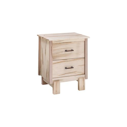 Maple Springs 2 Drawer Nightstand - Natural