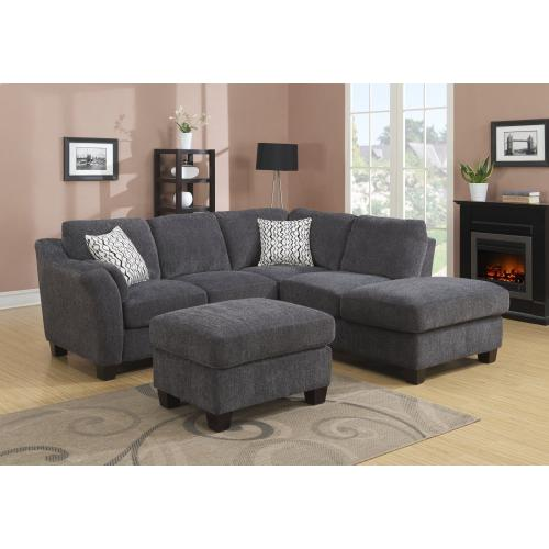 Emerald Home Ottoman - Marlin-charcoal U8060-03-23b