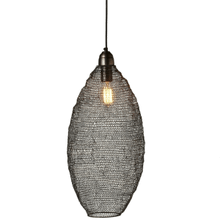 See Details - Gunmetal Hand Woven Tall Wire Oval Pendant. 40W Max. Hard Wire Only.