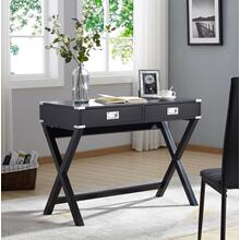 3879 BLACK X-Base Writing Desk