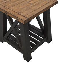 See Details - END TABLE - Black Satin / Natural Top