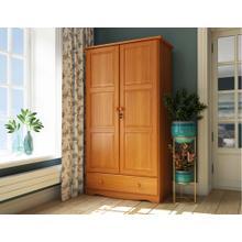 5624 - 100% Solid Wood Universal Wardrobe - Honey Pine