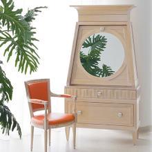 French Key Secretary-Light Limed-Orange Interior