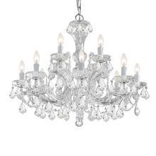 Maria Theresa 12 Light Clear Swarovski Strass Crystal Chandelier