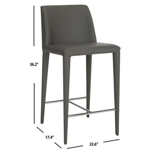 Garretson Counter Stool - Grey / Chrome
