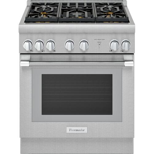 Dual Fuel Professional Range 30'' Pro Harmony® Standard Depth Stainless Steel PRD305WHU