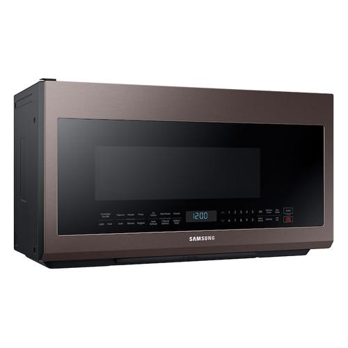 Samsung - 2.1 cu. ft. Over-the-Range Microwave with Sensor Cooking in Fingerprint Resistant Tuscan Stainless Steel