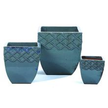 Trellis Square Planter - Set of 3