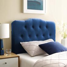 Annabel Twin Diamond Tufted Performance Velvet Headboard in Navy