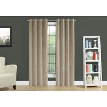 "CURTAIN PANEL - 2PCS / 52""W X 95""H BEIGE ROOM DARKENING"