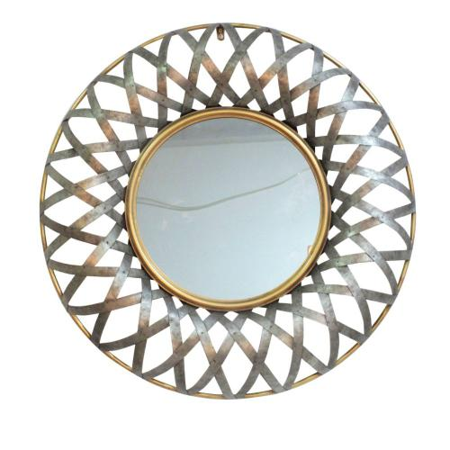A & B Home - Ives Round Wall Mirror