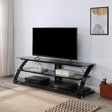 Valaro TV Stand In Smoke Glass and Black Border