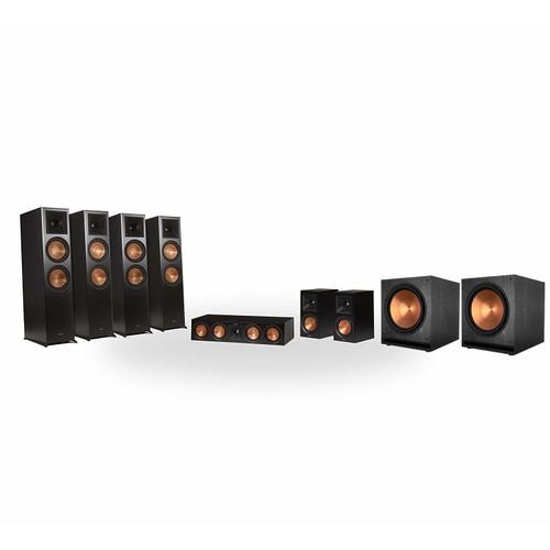 Klipsch - RP-8060FA 7.2.4 Dolby Atmos® Home Theater System - Walnut