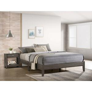 Skyler T. Platform Bed One Box Grey