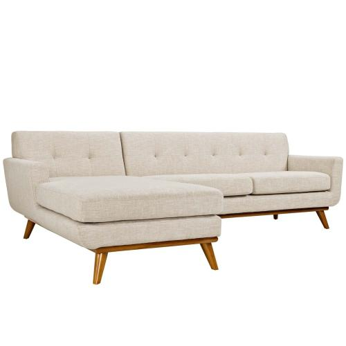 se Left-Facing Sectional Sofa in Beige