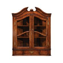 Queen Anne style hanging walnut corner cabinet