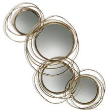 CONWAY MIRROR  Gold Finish on Metal Frame  Plain Glass Beveled Mirror