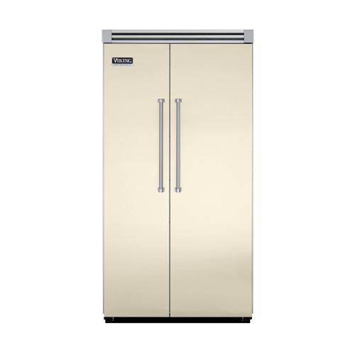 "Viking - Biscuit 42"" Quiet Cool™ Side-by-Side Refrigerator/Freezer - VISB Tru-Flush™ (42"" wide)"