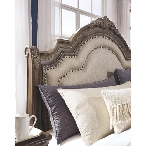 Queen Size Upholstered Sleigh Bed