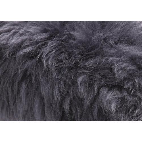 Tov Furniture - Luxe Grey Sheepskin Lucite Bench