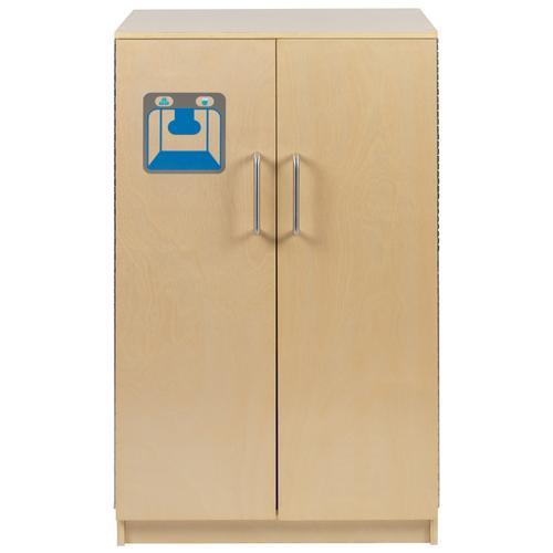 Flash Furniture - Children's Wooden Kitchen Refrigerator for Commercial or Home Use - Safe, Kid Friendly Design