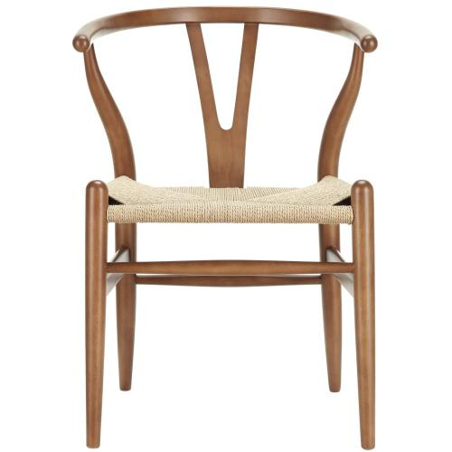 Amish Dining Wood Armchair in Walnut