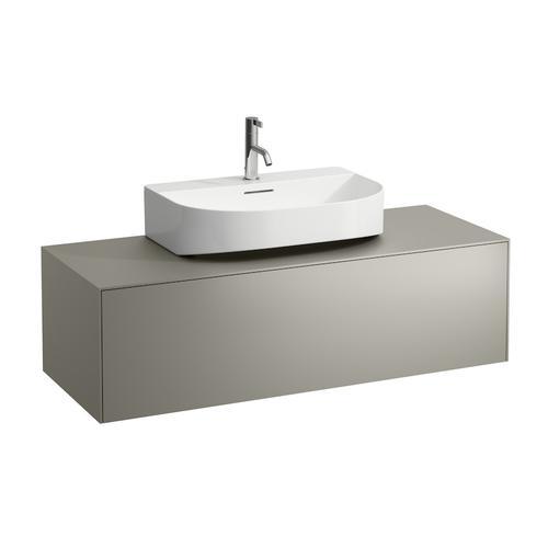White Matte & Nero Marquina Drawer element, 1 drawer, matching washbasins 816341, 816342, centre cut-out