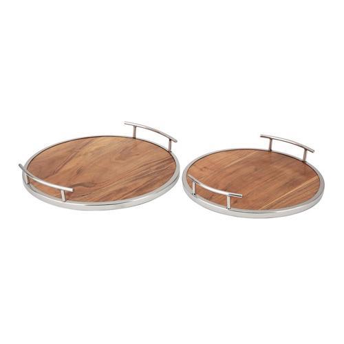 Gallery - S/2 Decorative Round Trays