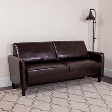 Candler Park Upholstered Sofa in Brown LeatherSoft