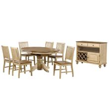 See Details - Round or Oval Butterfly Leaf Dining Set w/Server (8 piece)