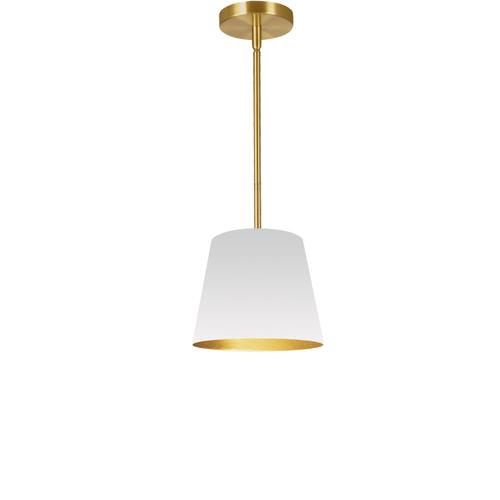 1lt Oversized Drum Pendant X-small, Wh/gld Shade