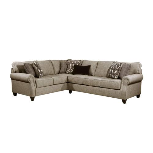 8010 Cannon Two Piece Sectional with Sleeper