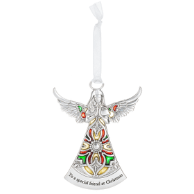 Angel Ornament - To a special friend at Christmas