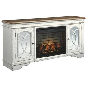 "Realyn 74"" TV Stand With Electric Fireplace"