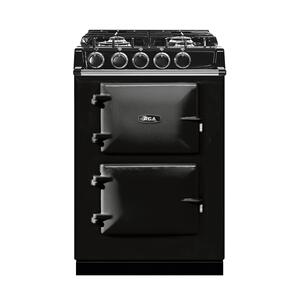 "AGAAGA City 24"" Electric/Natural Gas Black with Stainless Steel trim"