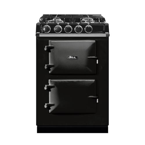 """AGA City 24"""" Electric/Natural Gas Black with Stainless Steel trim"""