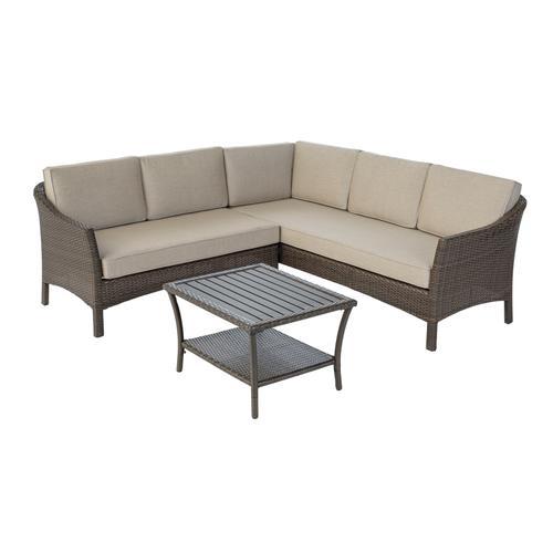 Hollybury 3 pc Sectional Group w/ Sunbrella Cushions