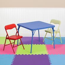 View Product - Kids Colorful 3 Piece Folding Table and Chair Set