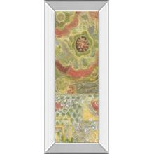 """Moroccan Whimsy I"" By Karen Deans Mirror Framed Print Wall Art"