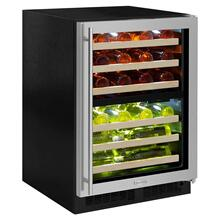 Marvel ML24WDG3RS     24-In Built-In High Efficiency Dual Zone Wine Refrigerator with Door Style - Stainless Steel Frame Glass, Door Swing - Right