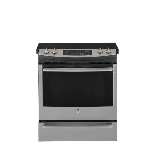 "GE 30"" Electric Slide-In Range Stainless Steel JCS630SFSS"