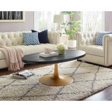 See Details - Drive Wood Top Coffee Table in Black Gold