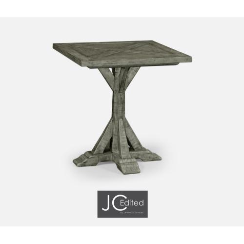 Antique Dark Grey Square Side Table