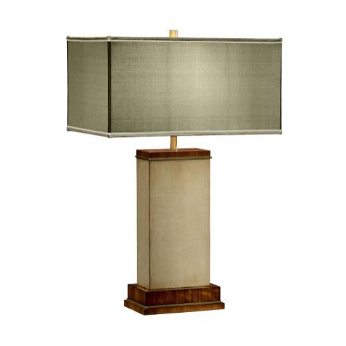 Ivory finish hyedua rectangular table lamp