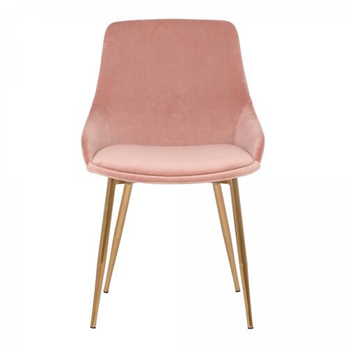 Heidi Blush Velvet Dining Accent Chair