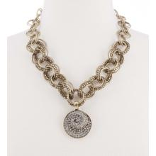 BTQ MJ You Spin Me Right Round Gold Necklace